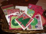 Basket of Cards for the Troops.