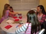 Children working on cards