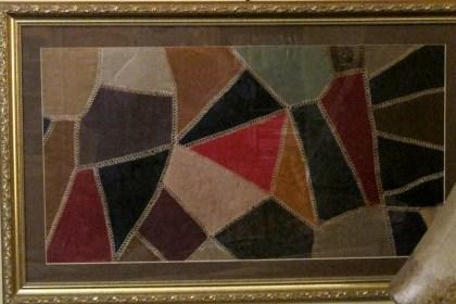 Amish Crazy Quilt piece all framed!