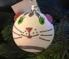 Hand Painted Christmas Kitty