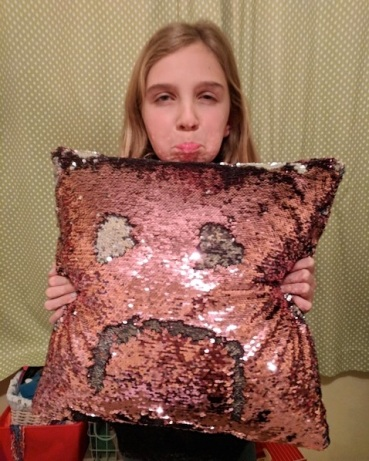 Sidney's not very happy. Neither is the pillow.