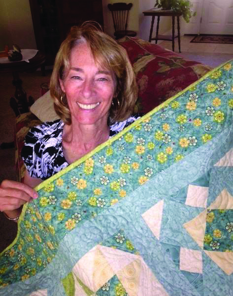 Therapy Quilt - Anne McKinley who made the quilt